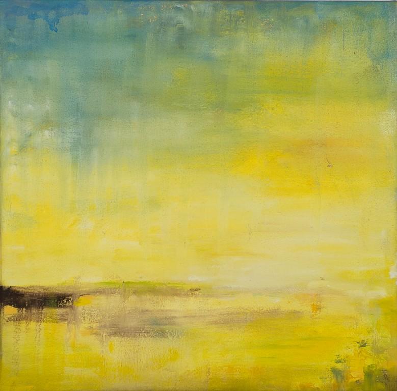Paesaggio marino 1 - olio su tela - 32x32x4 cm