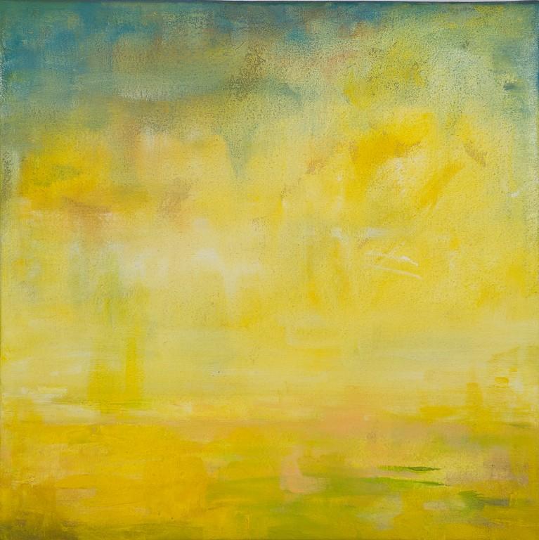 Paesaggio marino 2 - olio su tela - 32x32x4 cm