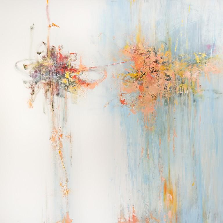 Senza titolo - olio e tecnica mista su tela - 100x100 cm